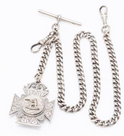 Sale 9180E - Lot 154 - A silver pendant on chain, chain Length 39.5cm, total weight 63g