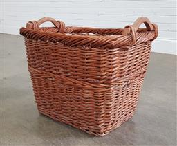 Sale 9188 - Lot 1648 - Timber and Wicker basket (h55 x w66 x d53cm)