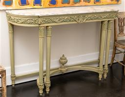 Sale 9248H - Lot 220 - A marble console with urn finial to base. Height 98 x 154 x 50cm