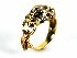 Sale 3808 - Lot 499 - A 18CT GOLD CARTIER STYLE LEOPARD RING;