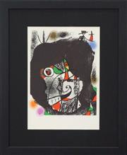 Sale 8301A - Lot 37 - Joan Miro (1893 - 1983) - Revolution I 30 x 23.5cm