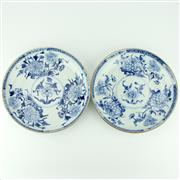Sale 8332 - Lot 57 - Kangxi Fine Blue & White Export Ware Pair of Plates