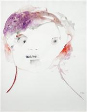 Sale 8466A - Lot 5011 - Anne Hall (1946 - ) (2 works) - Portrait Studies in Purple, 1966 56 x 38cm, each (sheet size)