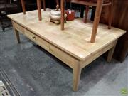 Sale 8593 - Lot 1053 - American Oak Chess Pattern Coffee Table