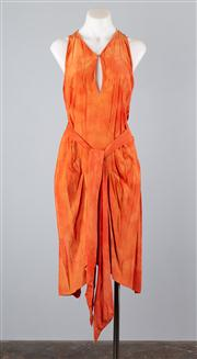 Sale 8685F - Lot 2 - A Willow burnt orange silk sundress, with sash ties on either side, size AU 6