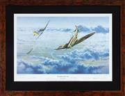 Sale 8868H - Lot 72 - Graeme Lothian, The right of the line. A framed, limited edition print bearing seven signatures of German and British WWII fighter p...