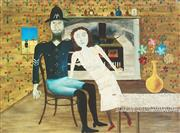 Sale 9009A - Lot 5065 - Sidney Nolan (1917 - 1992) - Constable Fitzpatrick and Kate Kelly 25 x 33 cm (frame: 56 x 66 x 3 cm)