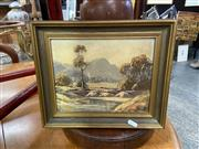 Sale 9087 - Lot 2085 - R. Parsons Country Landscape oil on board 28 x 33cm (frame) signed lower left -