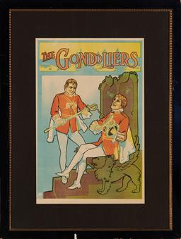 Sale 9123 - Lot 2017 - Stafford & Co Theatre Poster The Gondoliers colour lithograph 71 x 45.5 cm (frame: 106 x 80 x 2 cm) published by Stafford & Co Theat...