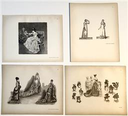 Sale 9142A - Lot 5114 - Suite of (4) Early 20th century monochrome Fashion Engravings, 28 x 22cm, each
