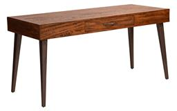 Sale 9250T - Lot 49 - A fruitwood single drawer desk with iron tapered legs. Height 78cm x Width 160cm x Depth 65cm