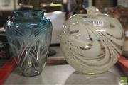 Sale 8283 - Lot 46 - Denizen Art Glass Vase with Another Art Glass Example