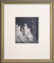 Sale 8325A - Lot 148 - Norman Lindsay (1879 - 1969) - Who Comes 28 x 24.5cm