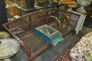 Sale 8331 - Lot 1565 - Cane Three Seater Bench