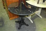 Sale 8380 - Lot 1095 - Cafe Table with Black Granite Top (80cm)