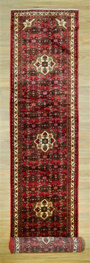 Sale 8585C - Lot 88 - Persian Husinabad Runner 505cm x 88cm