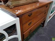 Sale 8589 - Lot 1032 - Raised Timber Chest of Three Drawers