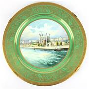 Sale 8607R - Lot 5 - Minton Handpainted Charger Depicting The Tower of London (D: 37cm)