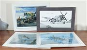 Sale 8868H - Lot 73 - Four unframed aviation illustrations, three with certificates of authenticity issued by Randy Frey