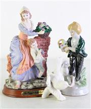 Sale 8972M - Lot 633 - Aa Goebel Figure of A Bird Together with 2 Figural Groups (Tallest 23cm)