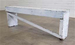 Sale 9188 - Lot 1463 - Rustic timber painted bench (h40 x w112 xd25cm)