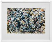 Sale 8019A - Lot 66 - Jackson Pollock (1912 - 1956) After. - Silver on Black 51 x 79cm