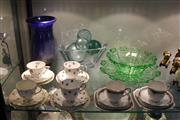 Sale 8189 - Lot 96 - Julia Crystal Bowl with Glass & Ceramics incl. a Royal Albert Trio