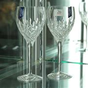 Sale 8351 - Lot 26 - Stuart Pair Crystal Wine Glasses