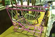 Sale 8499 - Lot 1045 - Pink Painted Magazine Rack
