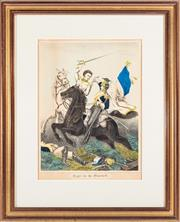 Sale 8873A - Lot 46 - A Victorian hand coloured print, Fight for the Standard,