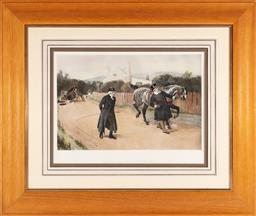Sale 9190H - Lot 329 - John Charles Dollman (1851 - 1934) - Owner has no further use Framed size 67 x 77cm