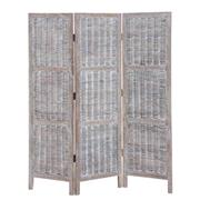 Sale 8957T - Lot 71 - Bifold Screen featuring fruitwood frame and rattan in grey wash W150 X D3 X H170