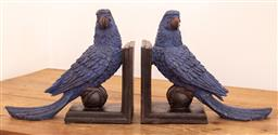 Sale 9150H - Lot 155 - A pair of parrot form bookends , Height 22cm , Width 26cm,   repaired