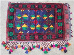 Sale 9188 - Lot 1664 - Hand knotted Pure Wool Persian Tent Pillow (80 x 50cm)