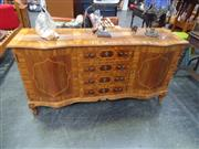 Sale 7969A - Lot 1041 - Inlaid Two Door Sideboard w Faux Front