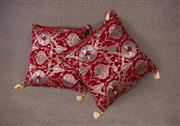 Sale 7379B - Lot 98 - Pair of Turkish cushions with red ground