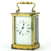 Sale 8214 - Lot 79 - French Brass Carriage Clock