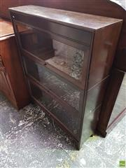 Sale 8559 - Lot 1062 - Early 20th Century Oak Stacking Bookcase, of three section with glass panel doors