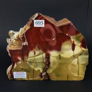 Sale 8567 - Lot 693 - Mookaite (Base Cut with Polished Face), Western Australia