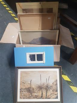 Sale 9155 - Lot 2085 - A group of 17 prints and collages including Albert Namatjira decorative prints
