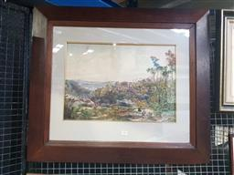 Sale 9159 - Lot 2003 - E W Minchen - Untitled (Artists in the Mountains), 1880 frame: 66 x 76 cm