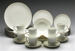 Sale 9175 - Lot 26 - A Wedgwood Formal Gold Eight Person Dinner Suite