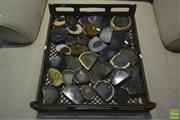 Sale 8227 - Lot 1072 - Bread Crate Sliced Polished Agate Ends