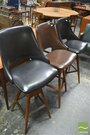 Sale 8275 - Lot 1068A - Set of 3 Vintage Wallace Barstools