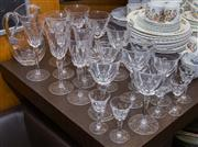 Sale 8310A - Lot 148 - A collection of crystal stemware and a water jug.