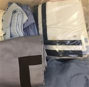 Sale 8310A - Lot 382 - A quantity of mainly blue geometric quality bed linen