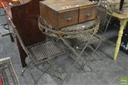 Sale 8326 - Lot 1242 - Metal 3 Piece Garden Suite