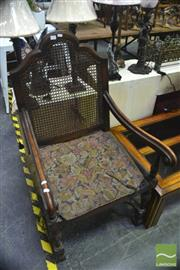 Sale 8326 - Lot 1750 - Stretcher Base Armchair w Another