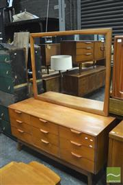 Sale 8338 - Lot 1030 - Retro Mirrored Back Chest of Nine Drawers