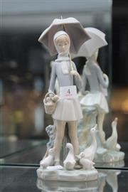 Sale 8340 - Lot 4 - Lladro Figure Girl with Umbrella